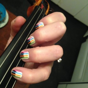 Jamberry nail wraps stand up to the strings!